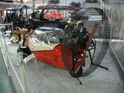 Messerschmitt Kabinenroller KR 200, 1956. Angetrieben durch einen VW Flugmotor mit einer Luftschraube